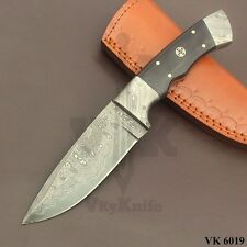 Handmade Damascus Steel Skniner Knife Bushcraft  9.5 Inches Micarta  VK6019