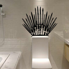 Toilet Basin Bathroom Iron Throne Swords Art Vinyl Wall Stickers Game of Thrones