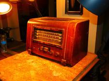 """Rare 1941 Art Deco Wooden """"De Luxe Beam-a-Scope"""" GE Model L-740 7-Tube Radio"""