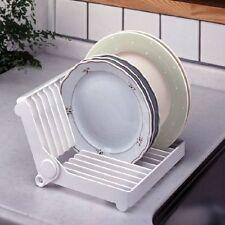 PIEGHEVOLE PIATTO PIASTRA PLASTICA ASCIUGATURA A RASTRELLIERA DRAINER Storage Holder Kitchen