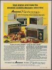 Amana Radarange Microwave Oven Vintage Magazine Print Ad 1974