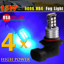4X Ultra Blue 9006 HB4 15W High Power 2835 LED lights for Car Fog/Driving lights