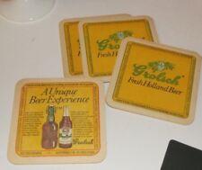 Vintage Bar Drink Coasters - Grolsch Fresh Holland Beer - Set of 4