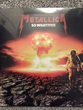 METALLICA 'SO WHAT' LTD EDT NUMBERED CLEAR VINYL 2017 LP *NEW AND SEALED*