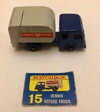 Tippax Refuse Collector Truck #15 Matchbox Toy Series England Box Piece