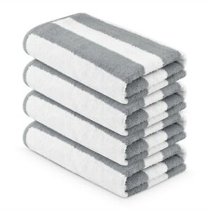 4 pieces Pack- 30x60 inches-Large Pool/Beach Cabana GRAY Towels by MIMAATEX
