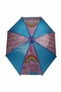 OFFICIAL PEPPA  PIG CHARACTER  GIRLS RAIN UMBRELLA KIDS SCHOOL PANEL BROLLY GIFT
