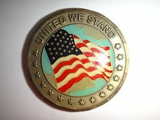 UNITED WE STAND - PROUD TO BE AN AMERICAN 2-Side Challenge Coin