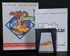 2600 Mr. Do's Castle with Box & Manual Atari 2600 1984 Free US Shipping