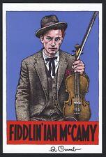 Robert CRUMB (Cartoonist/Musician): Fiddlin' Ian McCamy - Signed Postcard