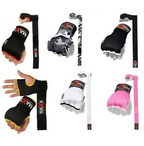 Maxx® Gel Inner Hand Wraps Gloves Boxing Fist Padded Bandage MMA Gel Strap Mitts