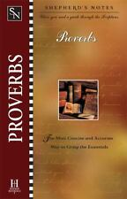 Shepherd's Notes: Proverbs by Garrett, Duane A.