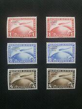 DR Chicagofahrt + Polarfahrt, 1A postfrisch;1933  Mi 496-498 und 1931 Mi 456-458