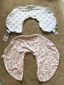 2 Boppy Pillow Cover- Cherries and Elephant/ Stripes patterns Nursing