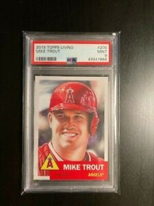 2019 Topps Living Set Mike Trout #200 PSA 9 MINT.  Los Angeles Angels