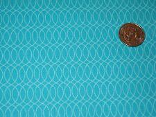 Kokeshi by Suzy Ultman,Ovals on Aqua , from Robert Kaufman fabrics, yard