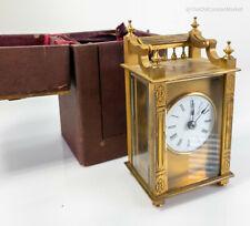 Antique Gilt Bronze Queen Anne Boston Clock Company Carriage Clock Case