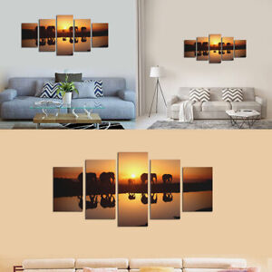 5 Panels Modern Canvas Wall Hanging Art Printing Oil Home Decor Picture ·