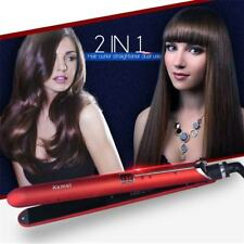 Professional 2 IN 1 Hair Straightener Curler Ceramic Steam Flat Iron Styling
