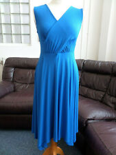 PHASE EIGHT ROYAL BLUE STRETCH JERSEY DRESS - HOLIDAY CASUAL OCCASION SIZE 12