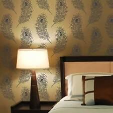 Designer Peacock Allover Stencil- Diy Home Decor - By Cutting Edge Stencils