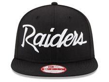 Oakland Raiders New Era NFL 20th Anniversary Script 9FIFTY Snapback Hat NWT