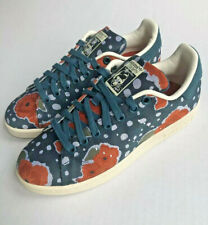 Adidas Womens Stan Smith Originals Shoes Sz 6.5 Green Floral Print Canvas