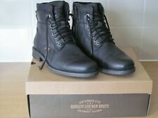 Immaculate Mens Levi Black Leather ankle boots size 6.5