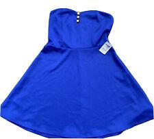 CHARLOTTE RUSSE Semi Formal Strapless Dress Royal Blue, Juniors Size M
