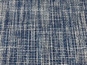 Brunschwig & Fils Woven Nubby Upholstery Fabric- Temae Texture / Indigo 6.75 yd