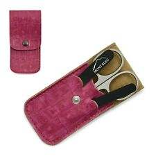 Mont Bleu 3-piece Manicure Set & Glass Nail File in Pink Eco-Leather Case MARTA