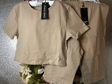 I Saw It First Ladies Cycling Shorts And Crop Top Set Size 10 Bnwt
