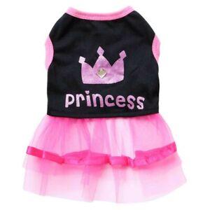 Cute Pet Puppy Dog Lace Princess Tutu Dress Skirt Clothes Apparel Costume XS-L