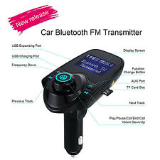 New Bluetooth FM Transmitter Radio Adapter Car Kit With 5V 2.1A USB Car Charger