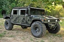 NEW AM GENERAL M-998 H1 HUMVEE 4 FOUR MAN SOFT CANVAS TOP WITH CURTAIN NOS BLACK