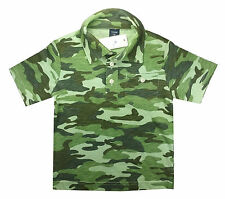 Gap Boys T Shirt Polo Top Green Camouflage Camo Army Age 3 Years
