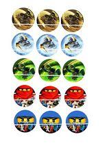 12 mini disque azyme cupcakes ninjago pour gateaux , enfant