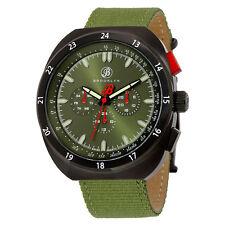 Brooklyn Floyd Green Dial Green Canvas Mens Multifunction Watch 305-M41194