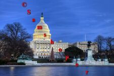 "2013 U.S. Washington DC Capitol Christmas Tree Photo Print 24"" x 36"""