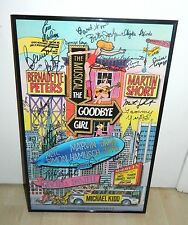 The Goodbye Girl Cast Signed Broadway Play Poster Martin Short Bernadette Peters
