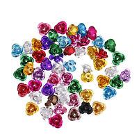 100 6mm Forme Rose Aluminium Perles Perle Intercalaire Pour Bijoux Bracelet