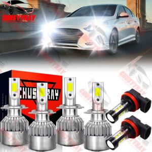 For Hyundai Sonata 11-2014 6X LED Faros antiniebla Actualización de la lámpara
