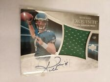 2007 EXQUISITE AUTO AUTOGRAPH JERSEY PATCH KEVIN KOLB ROOKIE CARD #163/225