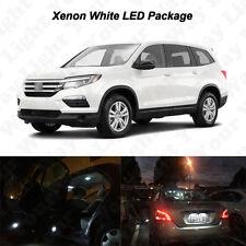 15 x White LED Interior Bulbs + Reverse Lights For 2016 2017 Honda Pilot