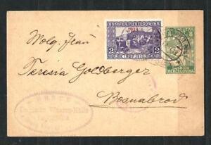 AUSTRIA BOSNIA 1918. SEMI POSTAL 1913. ERROR ON POSTCARD