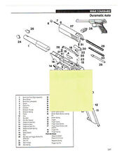 HIGH STANDARD DURAMATIC AUTO, MARK I REVOLVER EXPLODED VIEW/ PARTS LIST 2011 AD