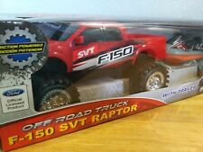 OFF ROAD TRUCK F- 150 SVT Raptor With Trailer. Red. Friction Powered, Brand New!