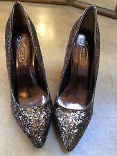Zapato de mujer de oro brillo Tribunal Talla UK5