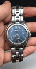 Men's Seiko Kinetic Auto Relay 5J22-0B69 Silver Tone Japan Wrist Watch Bracelet