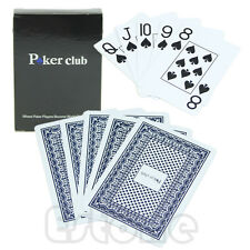 1*Waterproof Washable Poker New Blue 100% PLASTIC Size Texas Poker Playing Cards